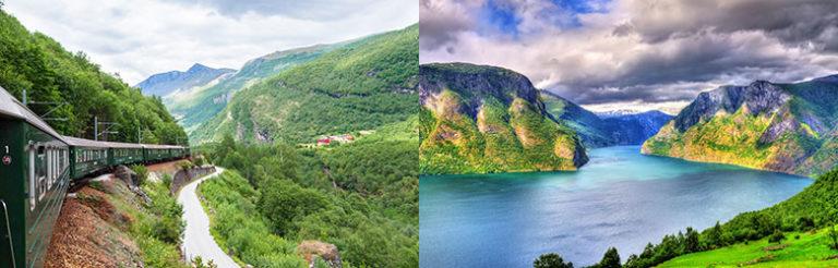 Nærøyfjorden and Flåmsbana, Norway