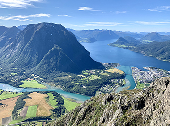 Åndalsnes, Romsdalseggen, Norway