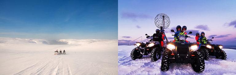 Med snøscooter til Nordkapp-platået